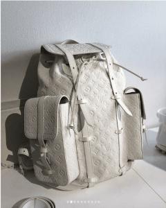 Louis Vuitton White Monogram Christopher Backpack Bag - Spring 2019