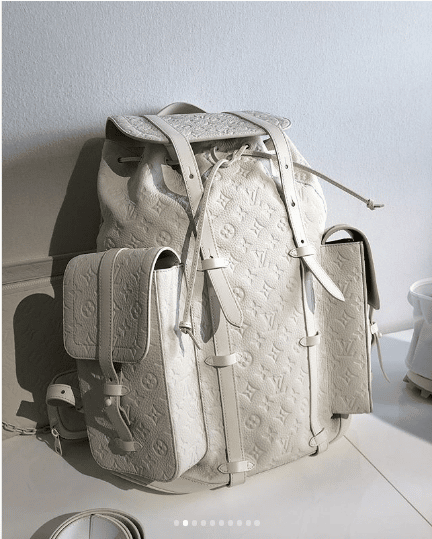 d9177e44d7fe Louis Vuitton White Monogram Christopher Backpack Bag - Spring 2019. IG   kelvin.limcs