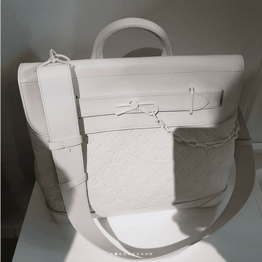 1afe1179be32 Louis Vuitton White Monogram Steamer Bag - Spring 2019. IG   hedonists