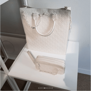 Louis Vuitton White Monogram Tote and Clutch Bag - Spring 2019
