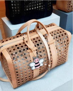 Dior Tan Perforated Cannage Duffle Bag - Spring 2019