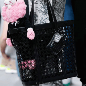 Dior Black Perforated Cannage Tote Bag - Spring 2019