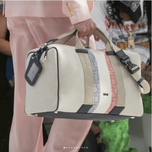 Dior White Canvas Duffle Bag - Spring 2019