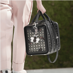 Dior Black Perforated Cannage Duffle Bag - Spring 2019