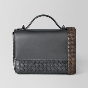 Bottega Veneta Antique Silver Intrecciato Nappa Alumna Bag