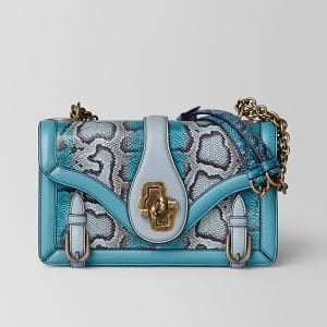 Bottega Veneta Aqua Shadow Karung City Knot Bag