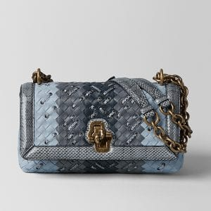 Bottega Veneta Arctic Intrecciato Club Stitch Olimpia Knot Bag