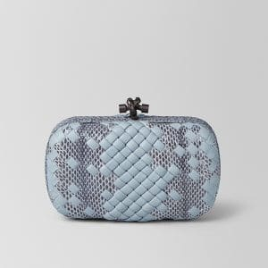 Bottega Veneta Arctic Intrecciato Imperatrice Chain Knot Bag