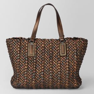 Bottega Veneta Bronze Nappa Antique Lido Bag