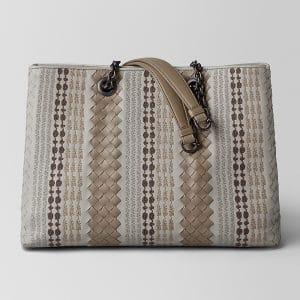 Bottega Veneta Cement Intrecciato Appia Tote Bag