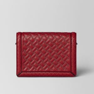Bottega Veneta China Red Nappa Microstuds Mini Montebello Bag