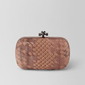 Bottega Veneta Dahlia Intrecciato Imperatrice Chain Knot Bag