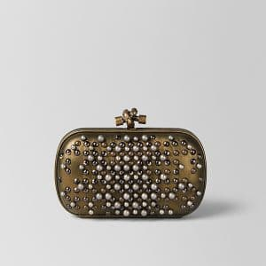 Bottega Veneta Dark Gold Spheres Knot Bag