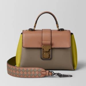 Bottega Veneta Limestone Multicolor Nappa Mini Piazza Bag