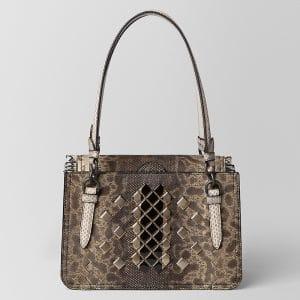Bottega Veneta Mist Ayers Mosaic Studs Reale Bag