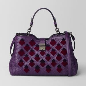 Bottega Veneta Monalisa Intrecciato Velvet Small Napoli Bag