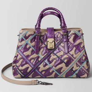 Bottega Veneta Monalisa Pied De Poule Intrecciato Roma Bag
