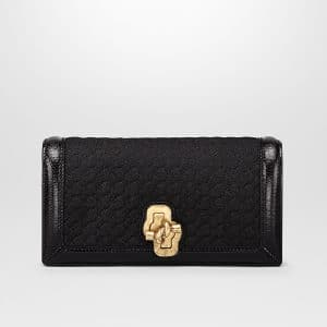 Bottega Veneta Nero Intrecciato Knit Knot Clutch Bag