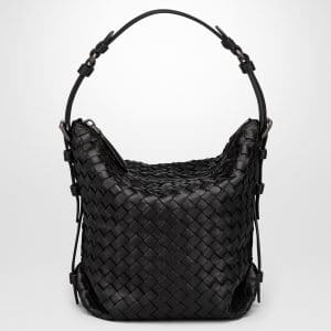 Bottega Veneta Nero Intrecciato Nappa Small Osaka Bag