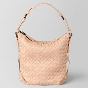 Bottega Veneta Peach Rose Intrecciato Nappa Small Osaka Bag