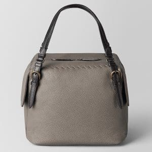 Bottega Veneta Steel Cervo Large Shoulder Bag