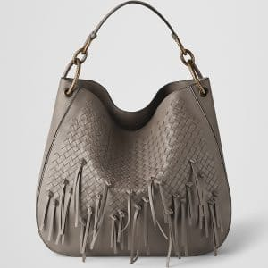 Bottega Veneta Steel Intrecciato Brio Large Loop Bag