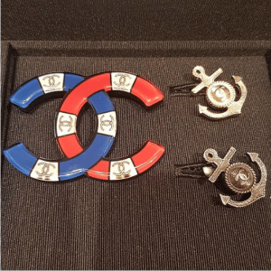 Chanel CC Brooch and Anchor Earrings