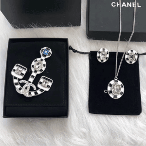 Chanel Multicolor Brooch : Earrings and Necklace