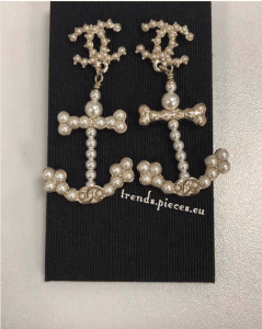 Chanel Pearl Anchor Earrings