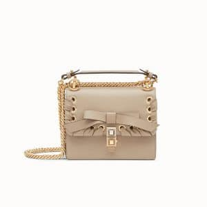 Fendi Beige Bow Kan I Mini Bag