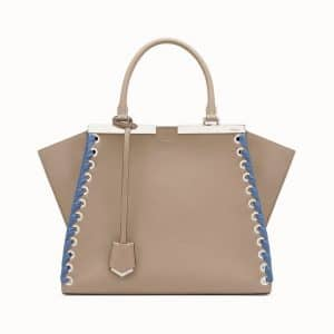 Fendi Beige Lace-Up 3Jours Bag
