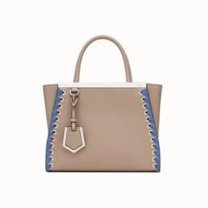 Fendi Beige Lace-Up Petite 2Jours Bag