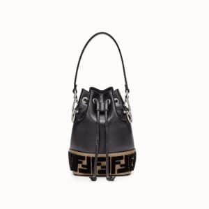 Fendi Black FF Mon Tresor Bucket Bag