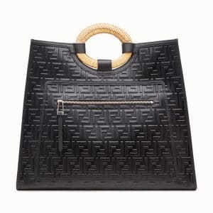 Fendi Black FF Runaway Shopper Bag