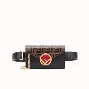 Fendi Black/Brown FF Belt Bag