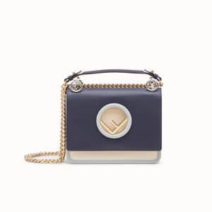 Fendi Blue Kan I Logo Mini Bag