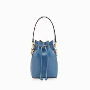 Fendi Blue Mon Tresor Small Bucket Bag