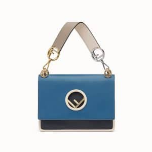 Fendi Blue Multicolor Kan I Logo Bag