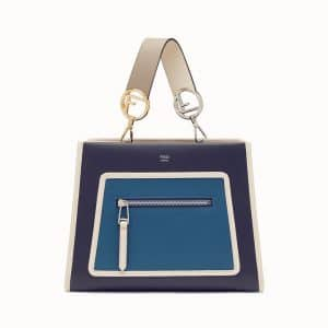 Fendi Blue Multicolor Runaway Small Bag