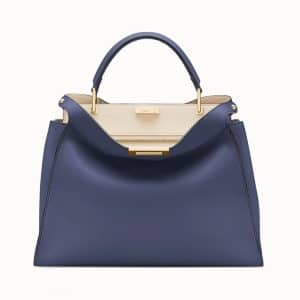 Fendi Blue Peekaboo Essential Bag