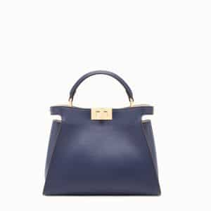 Fendi Blue Peekaboo Essential Medium Bag