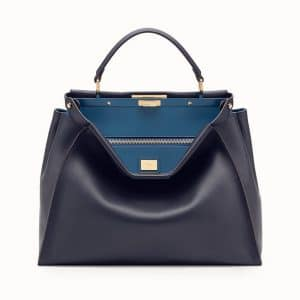 Fendi Blue Peekaboo Large Bag