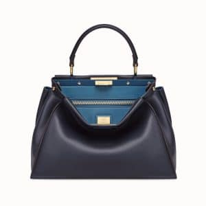 Fendi Blue Peekaboo Regular Bag