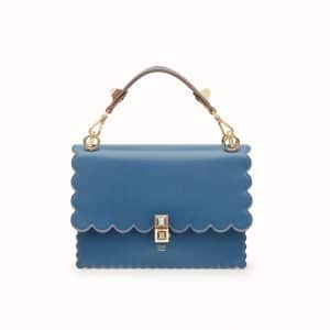 Fendi Blue Scalloped Kan I Bag