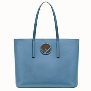 Fendi Blue Shopping Logo Bag