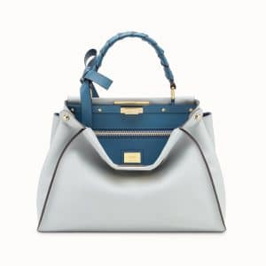 Fendi Gray Bow Peekaboo Regular Bag