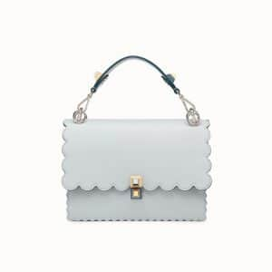 Fendi Gray Scalloped Kan I Bag