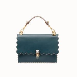 Fendi Green Scalloped Kan I Bag