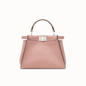 Fendi Pink Selleria Peekaboo Mini Bag