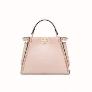Fendi Pink Studded Peekaboo Mini Bag